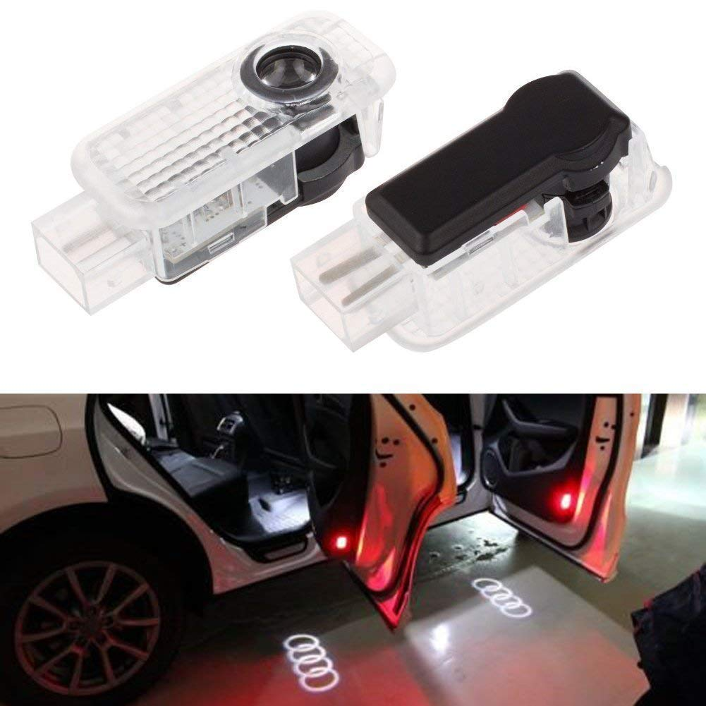 2 Pack Flyox BMW Easy Installation LED Car Door Lighting Courtesy Laser Projector Logo Ghost Shadow Light for BMW 3 5 6 7 Series with M Logo