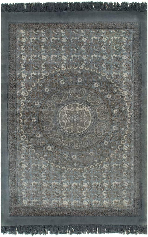 VidaXL Kelim Teppich Baumwolle 120x180cm Muster Grau Handwebteppich Wohnzimmer B07NCGLLKX