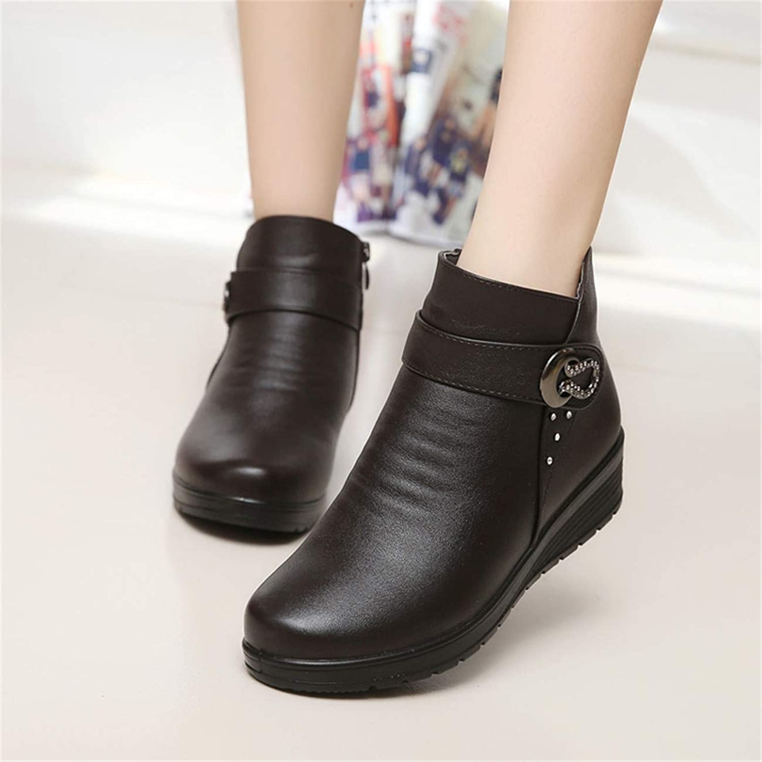 HCHBE& Cute Cat Warm Boots Women Family Christmas Cotton Winter shoes Women Boot