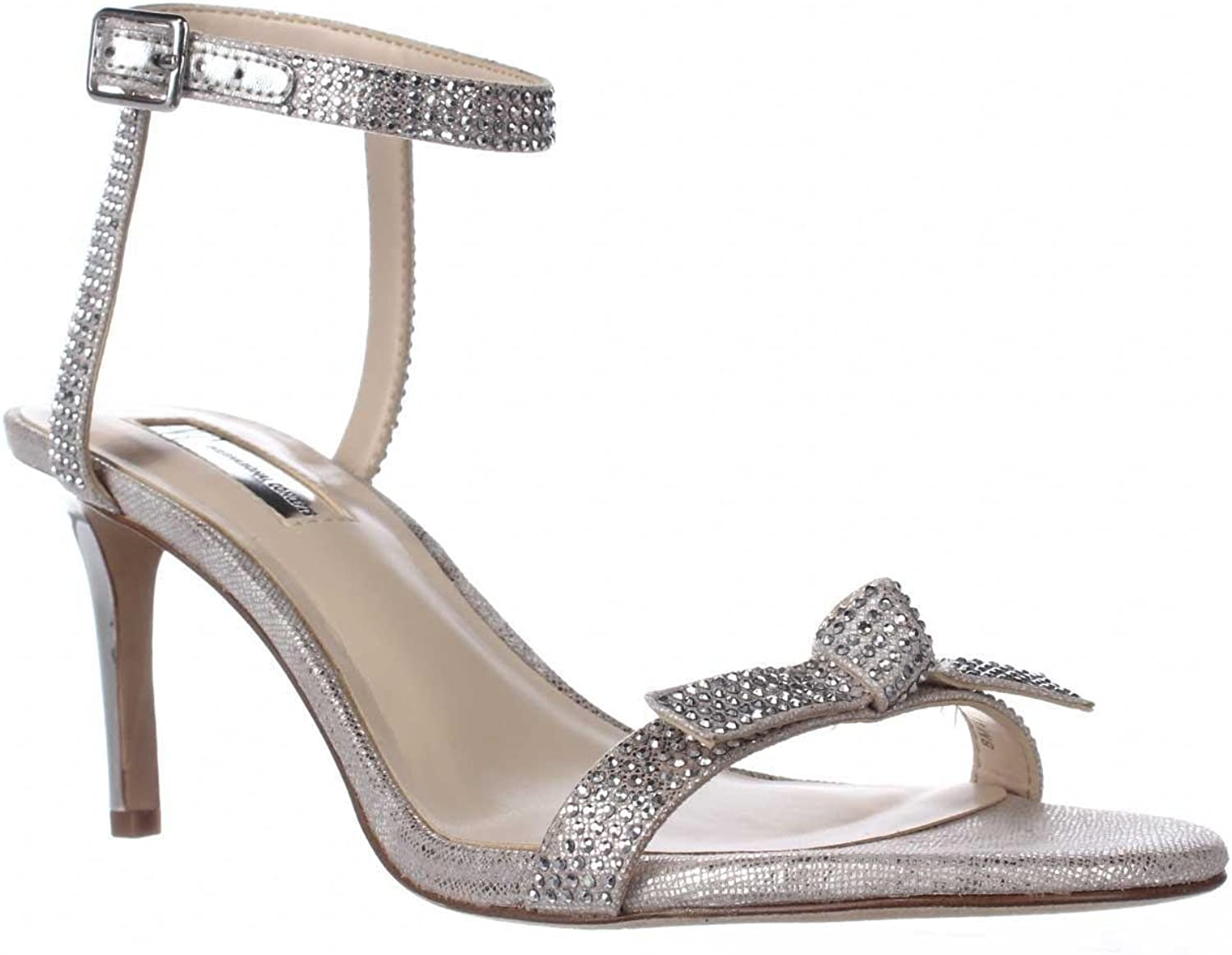 INC International Concepts I35 Laniah Ankle Strap Evening Sandals, Nude