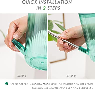 Watering Can for Indoor Plants, Plant Watering Can, Long Spout Small Water Pitcher for Home and Office, with Bonus Plant Mist