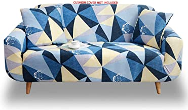 House of Quirk Universal Sofa Cover Big Elasticity Cover for Couch Flexible Stretch Sofa Slipcover (Blue Prism, Double Seater 145-185 cm)
