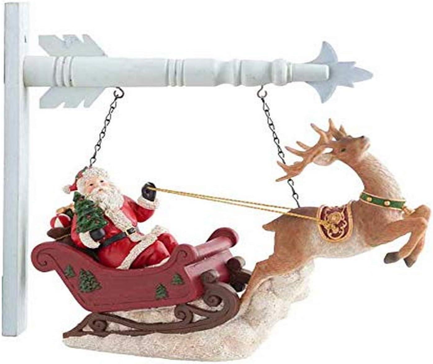 KK Interiors 53088A-AR Resin Santa Riding R Sales for sale w Deer Arrow 67% OFF of fixed price Sleigh