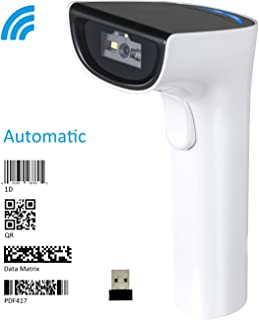 Koolertronバーコードリーダー自動Bluetoothワイヤレス2Dバーコードリーダー IOT800C 2.4Gワイヤレスオートスキャン1D 2DバーコードスキャナQR PDF 417データマトリックスUPC ラップトップ/PC/Android/タブレット/Apple IOS/iPhone/iPadに適用 (バーコードリーダー)