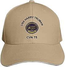 USS Harry S Truman Adjustable Baseball Cap, Old Sandwich Cap, Pointed Dad Cap