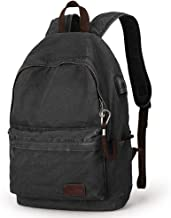 MUZEE Canvas Backpack Lightweight Travel Daypack Student Rucksack Laptop Backpack