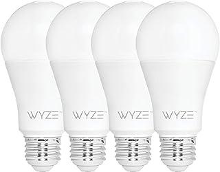 لامپ داخلی Wyze Bulb 800 Lumen A19 LED Smart Light، قابل تنظیم دما و روشنایی ، با الکسا و دستیار Google کار می کند ، هیچ توپی لازم نیست ، 4-بسته