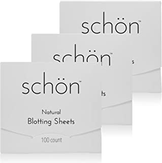 Oil Blotting Sheets – 100% Natural – Fragrance and Dye Free – Shine Pads for the Face and Body – 100 Sheets per Pack – 3 Packs Included