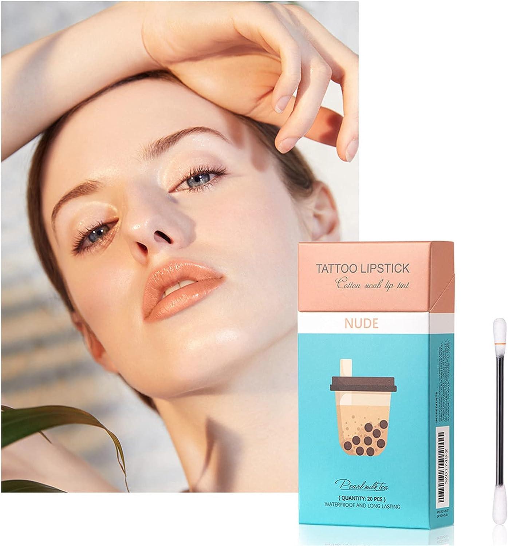 20 Pcs Now free shipping Box Tattoo Lipstick Cotton New product! New type Lip C Gloss Lasting Long Swab