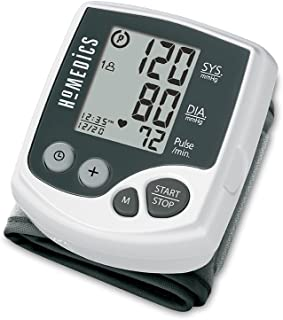 HoMedics Automatic Wrist Blood Pressure Monitor | 2 Users, 120 Stored Readings, Memory Average Function | Fast Accurate Readings, BONUS Protective Case Included