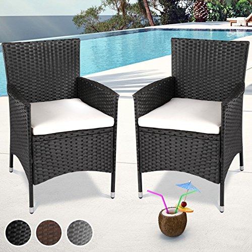 Miadomodo Mobili da Giardino in polyrattan Rattan mobili sedie in Confezione da Pezzi e Set di–in der Colore a Scelta