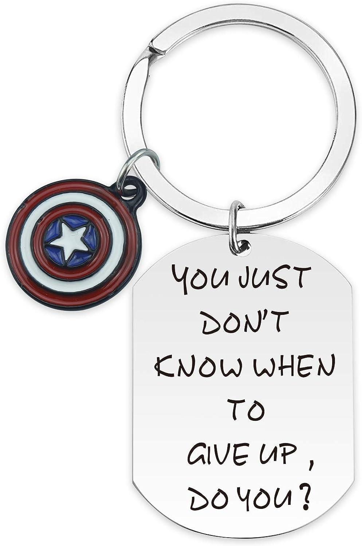 SIDIMELO Never Give Up Keychain Inspirational Jewelry Gifts for Teen Girls Women Men Boy Girlfriend Best Friend