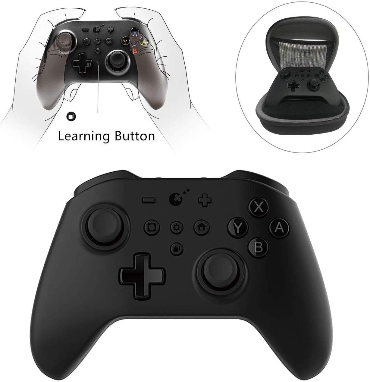 Controlador Pro inalámbrico para Nintendo Switch con botón de aprendizaje y doble CPU, función NFC, anillo de acero especial / detección de Hall ZR, botones ZL controlador de juegos bluetooth: Amazon.es: Videojuegos