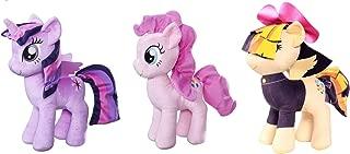 "My Little Pony Friendship is Magic 12"" Cuddly Plush (3 Pack) Princess Twilight, Pinkie Pie, & Exclusive Songbird Serenade"