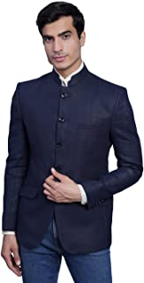 WINTAGE Men's Tweed Casual and Festive Blazer Coat Jacket : Navy Blue
