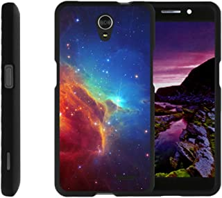 TurtleArmor   Compatible with ZTE Avid Plus Case   ZTE Avid Trio   ZTE ZFive 2 [Slim Duo] Two Piece Hard Cover Slim Snap On Case on Black - Colorful Nebula Galaxy