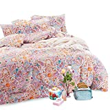 Wake In Cloud - Bohemian Duvet Cover Set, 100% Cotton Bedding, Boho Chic Indian Mandala Printed, with Zipper Closure (3pcs, King Size)