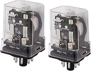 X-DREE JTX-2C AC 220V high performance Coil General Purpose essential Power Relay 8 well made Pins DPDT 2P2T 2 Pcs(307-ad-...
