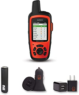 Garmin inReach Explorer+ Bundle with PowerBank + USB Car Charger + USB Wall Charger (4 Items)