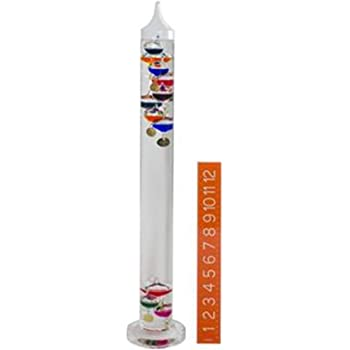 H-B DURAC Galileo Thermometer; 64 to 80F, 5 Spheres, 280mm (B62000-0800)