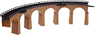 Faller 222586 Curved Viaduct 1 N Scale Building Kit, 7-1/2