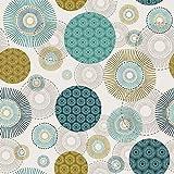 Hans-Textil-Shop Stoff Meterware Bunte Punkte Kreise