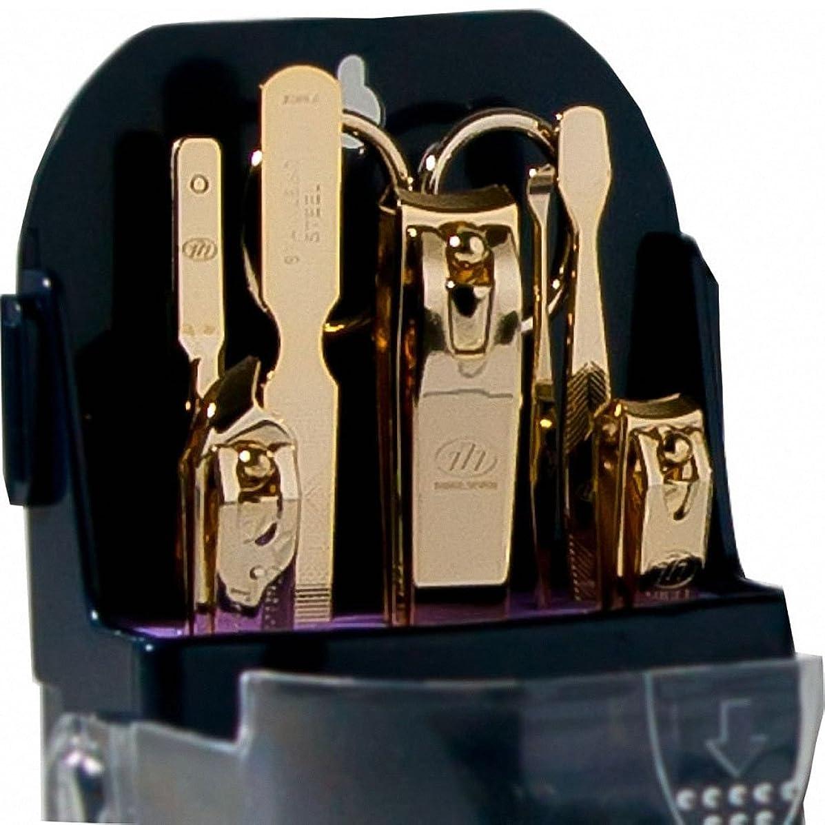 忘れられない文明化危険な【 三セブン】THREE SEVEN TS-091 Manicure Set 三セブンTS 091マニキュア セット (2.Gold) [並行輸入品]