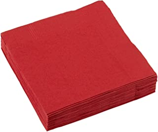 Amscan 2 PLY Beverage Napkins 20 Pieces, Apple Red