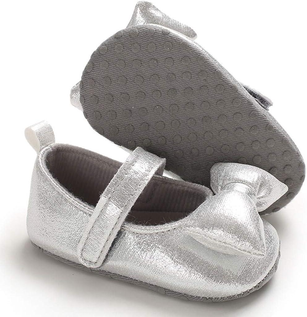 Kinderschuhe Blumen Schuh Baby M/ädchen Krabbelschuhe mit Schmetterling Knoten Fashion Babyschuhe Weiche Sohle rutschfeste Flache Schuhe mit Elastische G/ürtel Comie Kind Schuhe