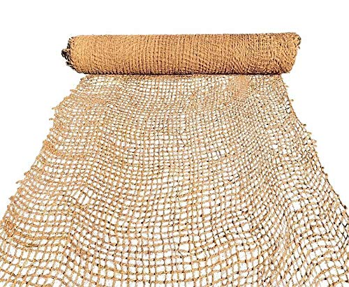 Sandbaggy Coir Mat   Erosion Control Product for Stopping Soil Erosion on Hillsides, Riverbanks & Oceanfront   Lasts 5X Longer Than Straw Blanket   Lasts 2-5 Yrs (Homeowner Size - 4 ft by 80 ft Roll)