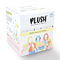 [LD] Plush Perfect Period Kit   14 Rash-free Natural Sanitary Pads For Women – 8 Light Flow Pads, 6 Heavy Flow Pads, 5 Intimate Wipes, 2 Liners   Vegan & Paraben Free   For Normal-Sensitive Skin