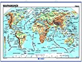 Mapamundi, físico / político: Mapas Murales ()