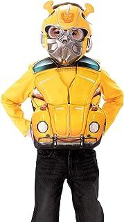 Rubies - Disfraz oficial de Transformers Bumblebee Transforming, disfraz de personaje de lujo y máscara para niños de 4 a 6 años
