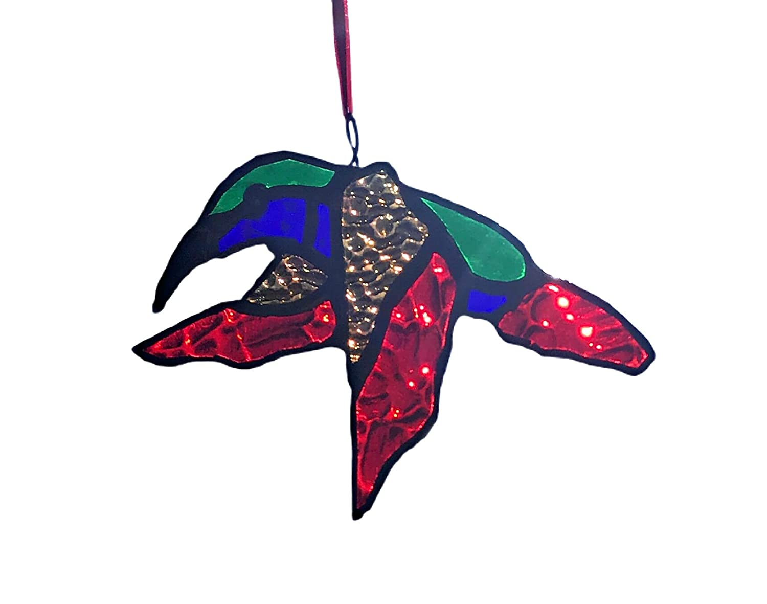 Red Blue Green Sales for sale and Purple Sun Catche Glass Hummingbird Great interest Stained