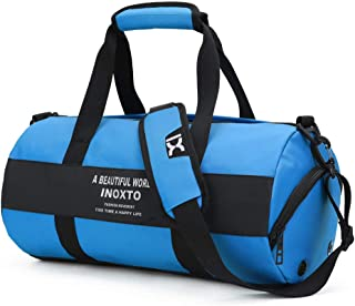Fashion Travel Bag Gym Bag with Shoes Compartment and Wet Dry Storage Pockets Crossbody Travel Duffel Bag High Capacity for Men and Women