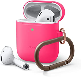 Elago Skinny Hang Case for Apple Airpods - Neon Hot Pink