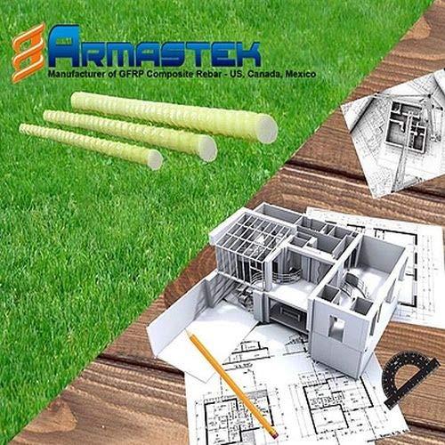 Gfk- Bewehrung Zuschnitte auf 2 Meter Baustahl Betonstahl Armierung Bewehrungsstahl Moniereisen (Ø 8mm Stab auf 2m Zuschnitt)