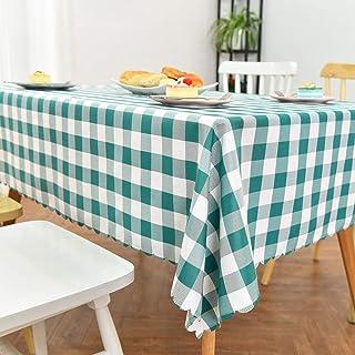 TWTIQ Fiesta De Celosía Cubierta De Mesa Mantel De Tela Escocesa Hilo Teñido Manteles Lisos Hogar Comedor Verde Blanco 120...