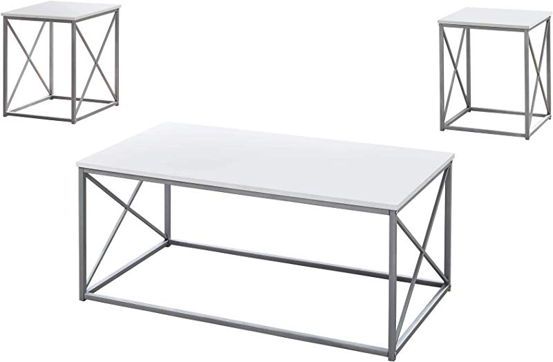 Monarch Specialties I 7951P Table Set One Size White