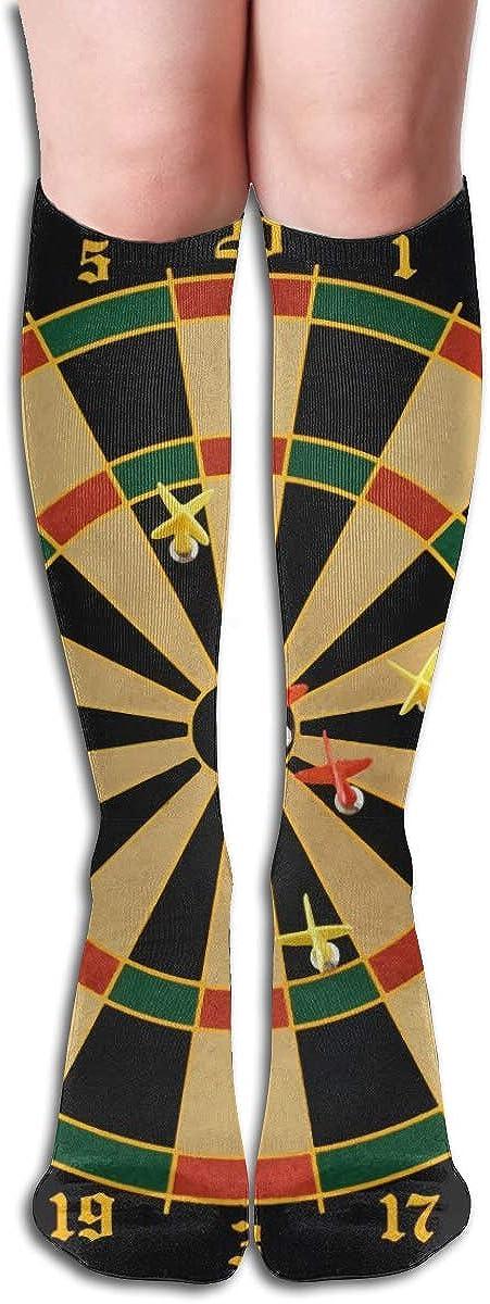 Women's Knee High Socks Tour Dartboard Athletic Fashion Girls Leg Winter Dresses Trouser Knit Cosplay Stockings