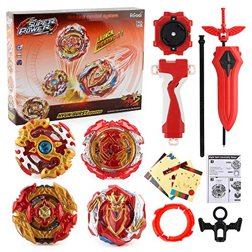 Burst Bey Battle Battling Top Gyro Battle Evolution Avatar Attack with 4D Launcher Grip and Fusion Set 4 in 1