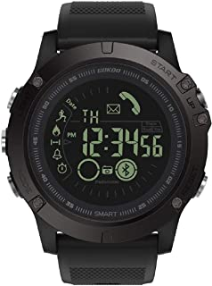 GOKOO Smart Watch for Men with Stopwatch Pedometer Calorie Counter Distance Notifications Alarm Remote Camera Outdoor Sports Smart Watch S10 Black