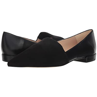 L.K. Bennett Vienetta (Black Stretch Suede/Nappa Leather) Women