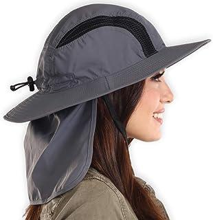 Boonie Sun Hat-UPF 50Protección para hombres y mujeres. Ala Ancha Sombrero de Verano. Resistente al agua para al aire última intervensión, Pesca, Senderismo, Camping, canotaje & Aventuras al aire última intervensión. Poliéster transpirable & Panel de malla Keep You Cool