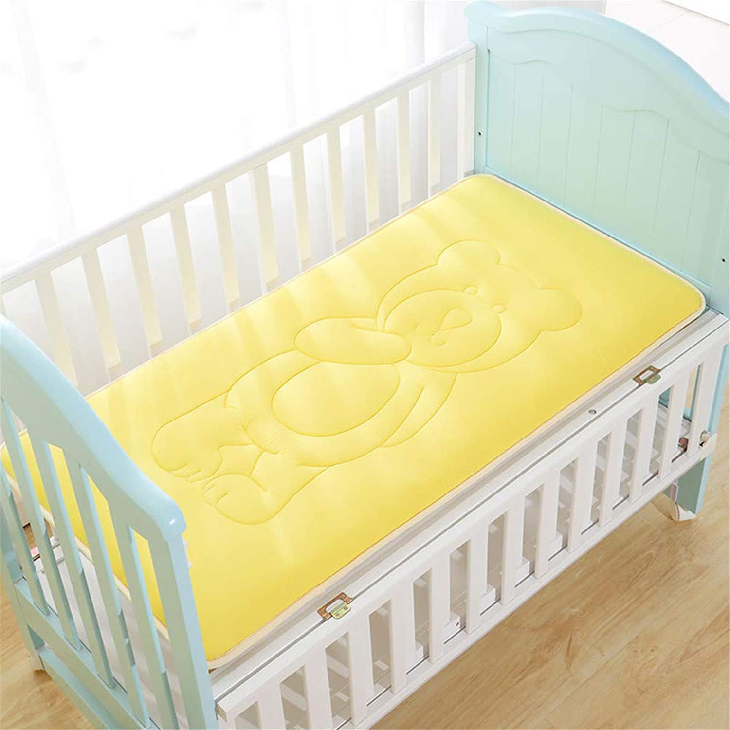 Vero Viva Bedding Cotton Baby Slip Bed Mattress Washable Breathable Sleeping Pad Cover for Kids,Super Soft Warm(31.5 x59 ,Yellow)
