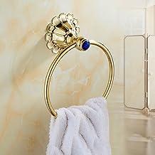 Towel ring Retro Creatieve Ronde Vorm Messing Badkamer Handdoekenrek Badkamer Hardware Accessoires (Kleur: Goud)