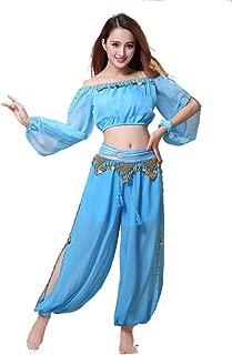 blue belly dancer costume