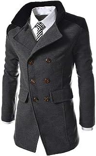 Giacca da Uomo Trench Giacca Outwear Cappotto Warm Stile Semplice Coat Giacca da Uomo Cappotto Elegante Trench Lungo da La...