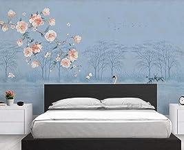 Behang 3D Behang Muurschilderingen Bloem en Vogel Bos Lake Landschap Muurschildering 3D Slaapkamer Behang voor Woonkamer M...