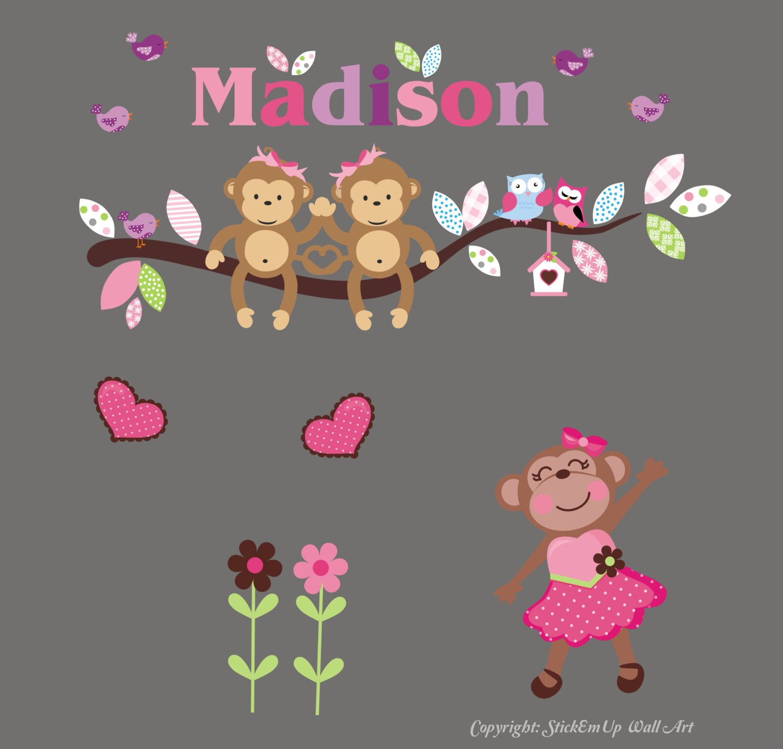 Monogrammed Wall Cheap mail order shopping Decals - Baby Regular store Stickers Nursery Ballerina Girl